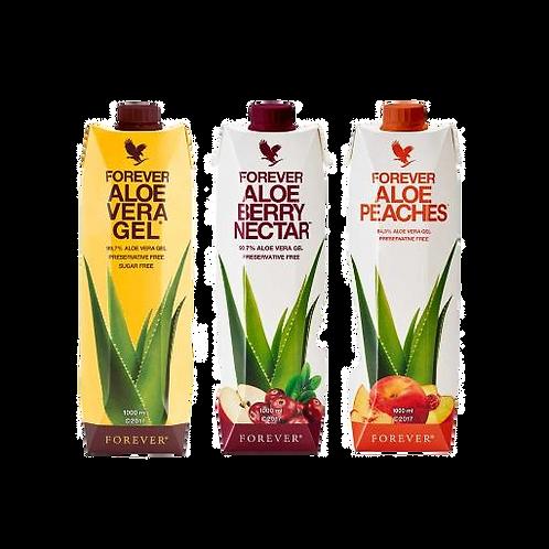 Trzypak Miąższ Aloe Vera Mix