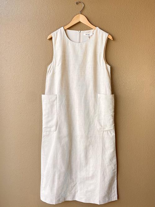 The Harrlow Dress in Flax
