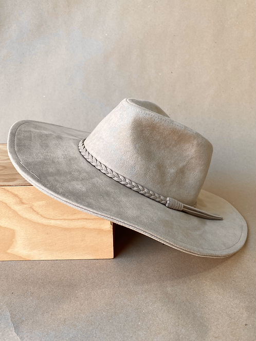 Out West Fedora in Taupe