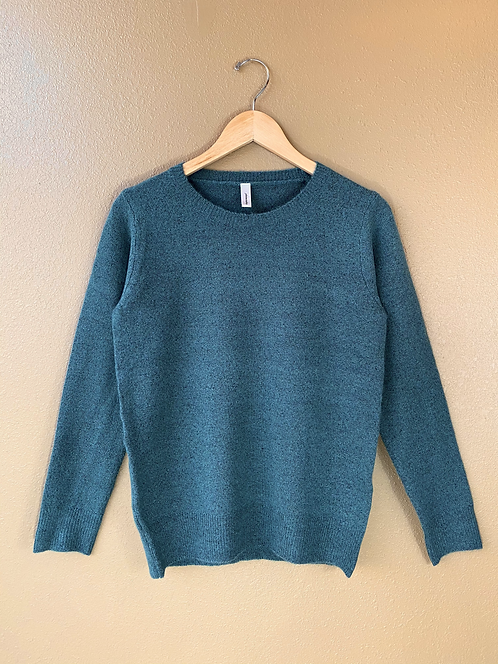 Crew Neck Sweater in Teal