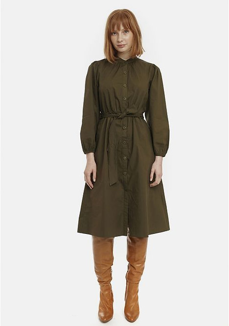 Green Midi Shirt Dress