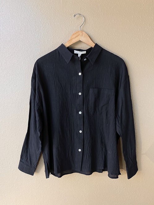 Drop Sleeve Shirt in Black