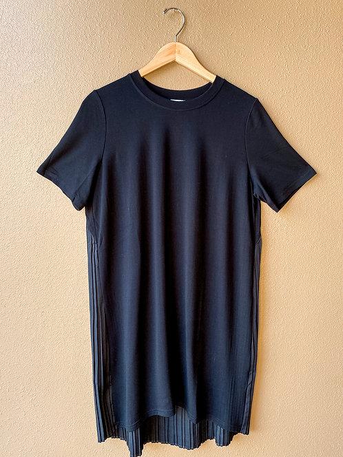 Pleat Back Dress in Black