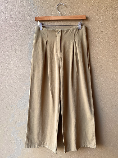 Pleat Pant in Twig