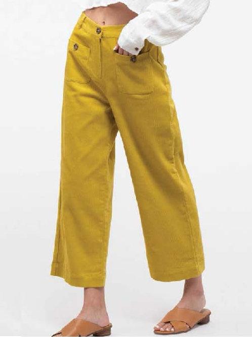 Wide Leg Lemon Cords