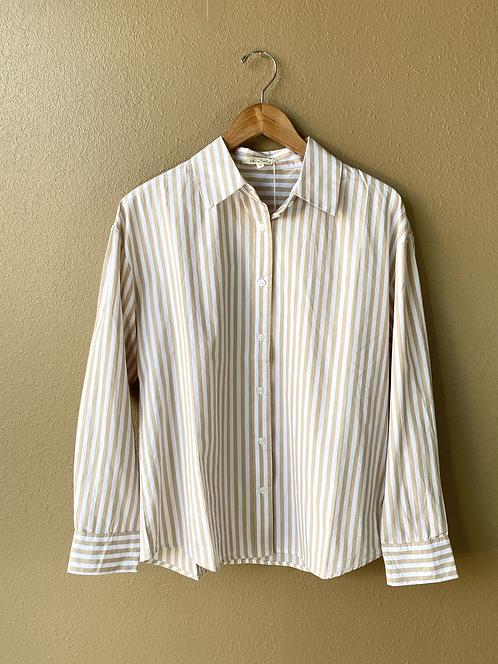 Vanilla Swirl Button Shirt