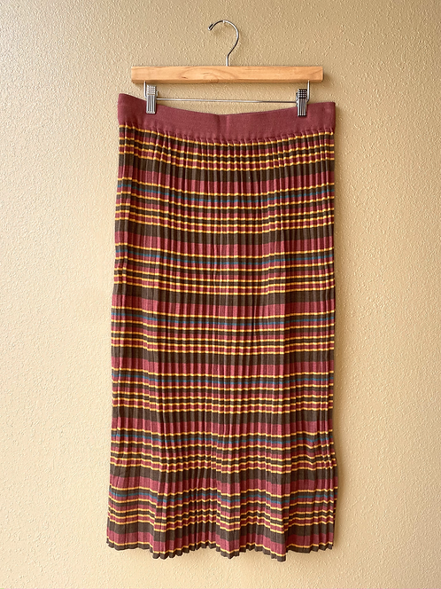 Ribbed Sweater Skirt in Southwest Stripe