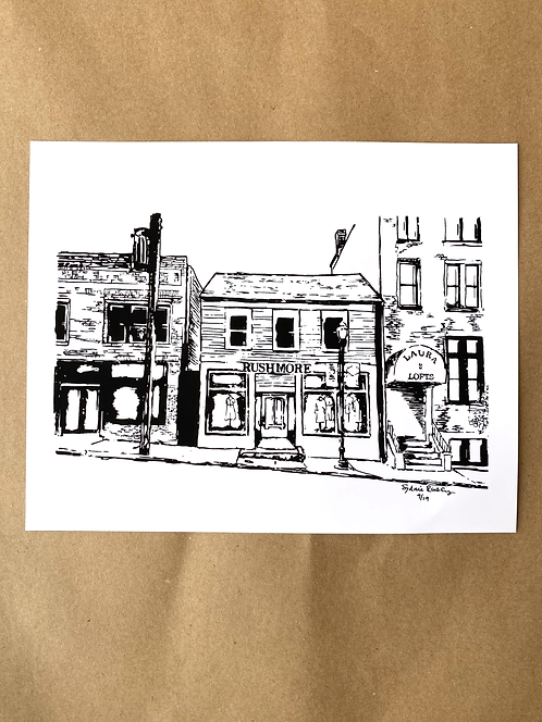 A Little Boutique On The River Print