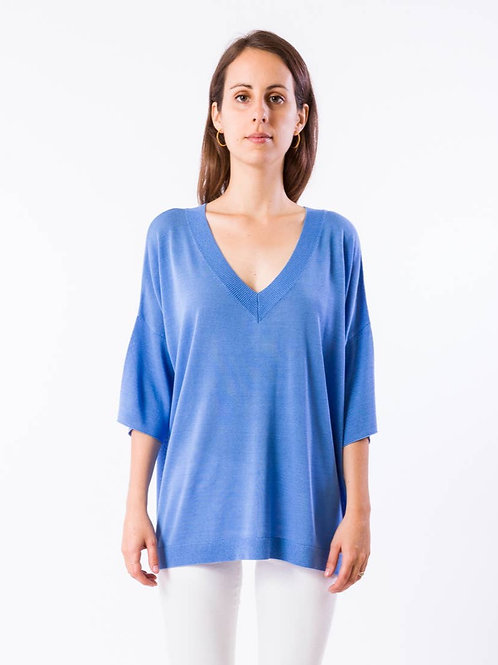 Rome Top In French Blue