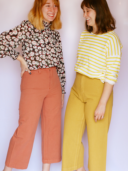 The Jenna Pant in Mustard