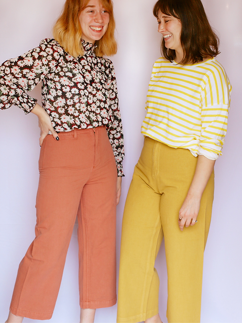 The Jenna Pant in Yellow