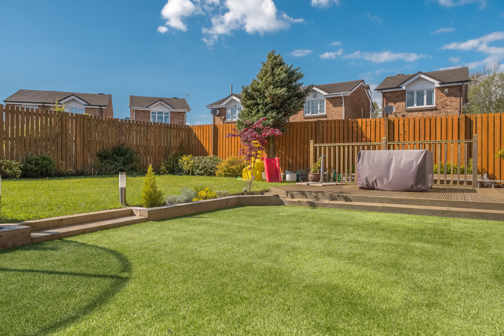 A newly completed and replanted landscap