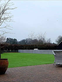 Artificial grass and fencing