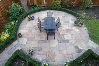 paved entertaining area