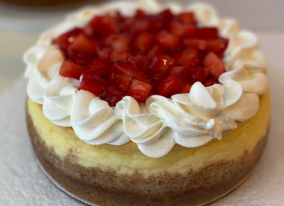 Small Fresh Strawberry Cheesecake (serves 4 - 8)