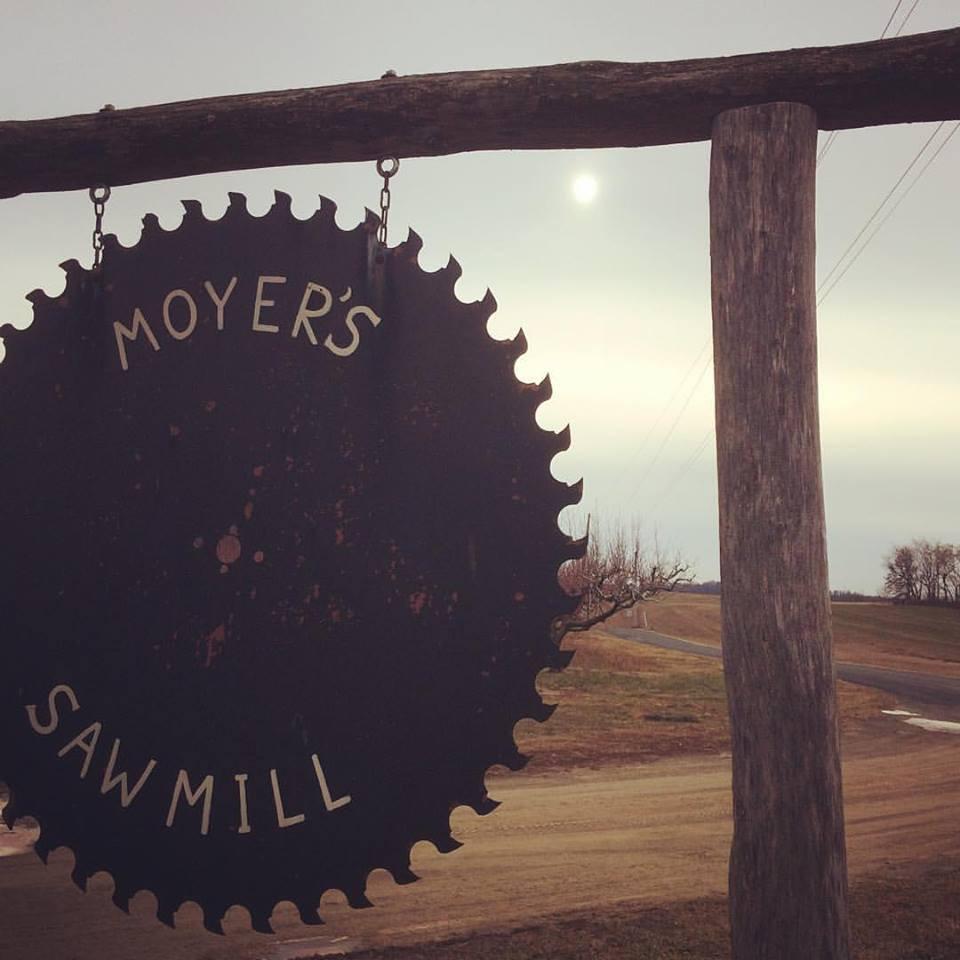 Moyer's Sawmill entrance