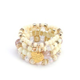 Multi-layered Bohemian Beaded Bracelet