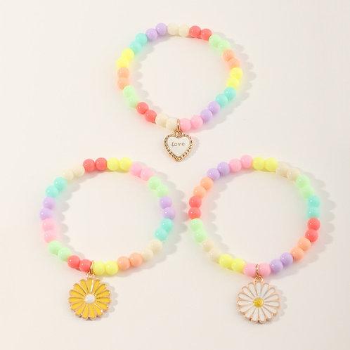 Children's Multicolored Beaded Bracelet