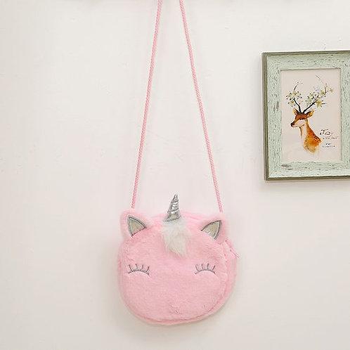 Plush Unicorn Messenger Bag