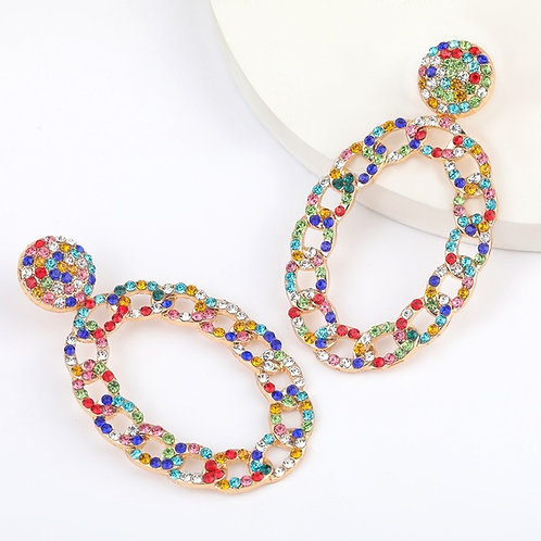 Alloy Rhinestone Earrings