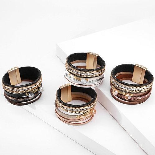 Bohemian Leather Studded Bracelet