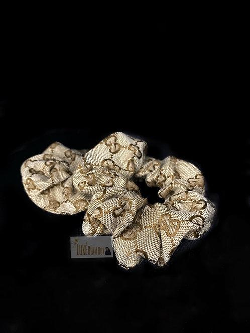 Pretty Brown Detail Scrunchie