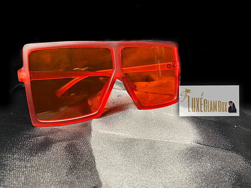 """""""Red Light Special"""" Oversized Shades"""