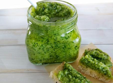 Vegaaninen vihreä pesto