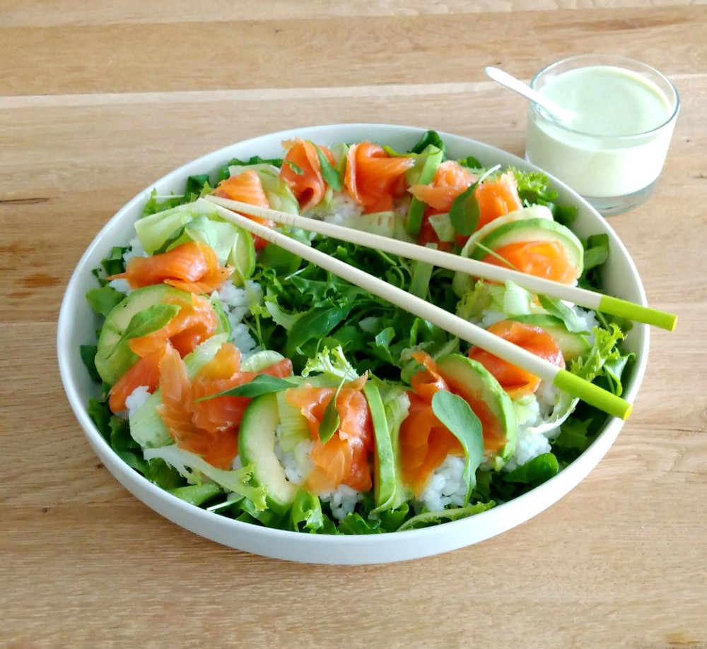 Sushiriisi, nopea sushi, sushin, riisi, lohi, kala, reseptit, kastike, riisiä, wasabi, avocado, sushikastike, tuorekurkku, ainekset, gluteeniton, laktoositon, maidoton, kevyt ruoka, ruokaisa salaatti, inkivääri, uusivuosi, juhla, äitienpäivä, isänpäivä, pikkujoulu, buffet, gari, pikkelöity inkivääri