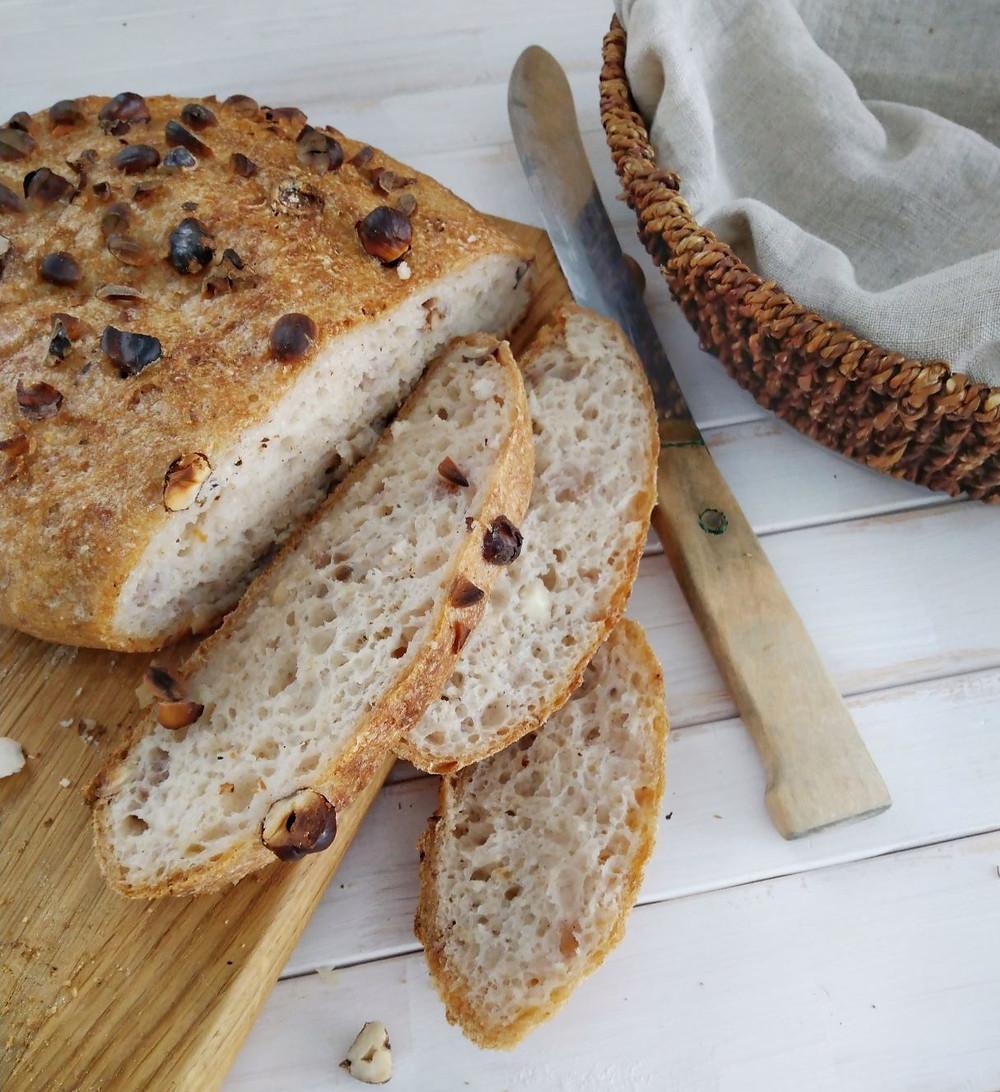 no-knead bread, fluffy, baked, oven, baking, delicious, nut bread, bake bread, pan, dutch, gluten-free, sour dough, crusty bread, cast iron,