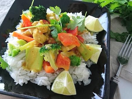 Herkullinen kana-kookos-curry
