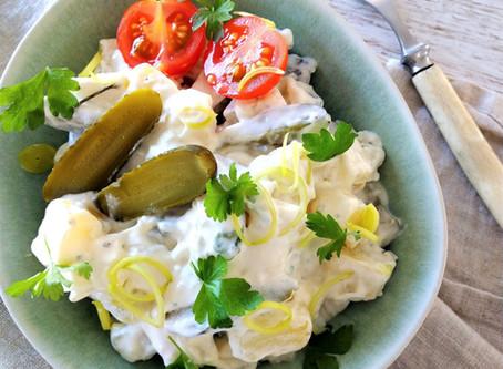Vegaani gluteeniton perunasalaatti