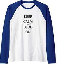 keep calm and blog on shirt