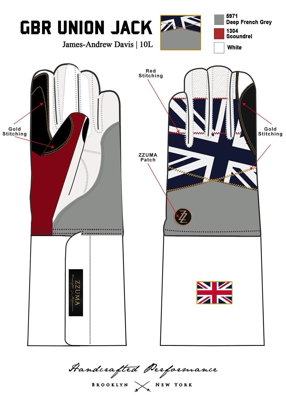 GBR Never Give In ZZUMA Glove