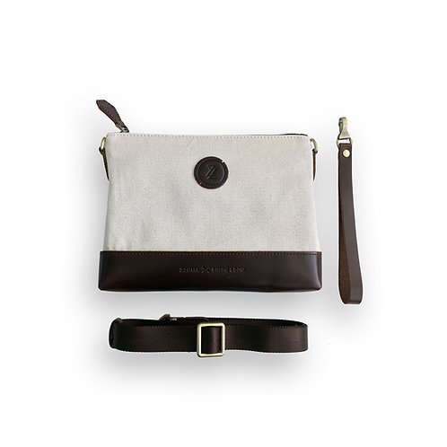 The Williamsburg 2 Way Clutch - Vintage White