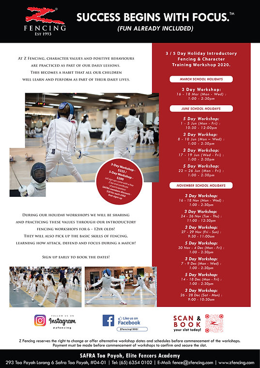 Holiday Introductory Fencing Workshop -
