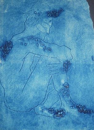 Blue Collagraph