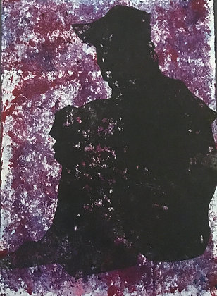 Dark Figure Collagraph #2