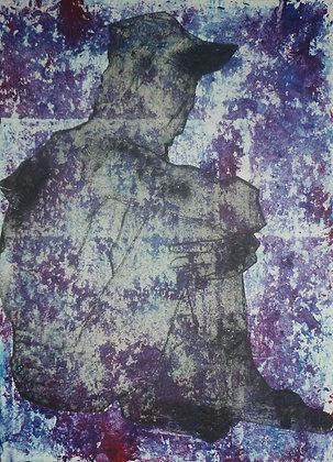 Dark Figure Collagraph #1