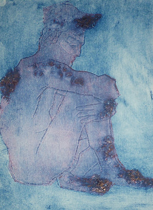 Blue/Red Collagraph