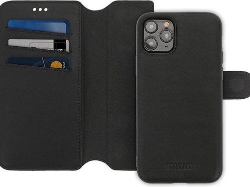 Minim 2 in 1 Wallet Case Apple iPhone Zwart