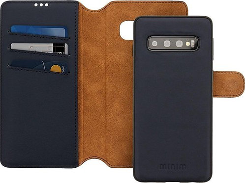 Minim 2 in 1 Wallet Case Samsung Blauw