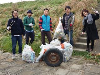 2016年最初の地域清掃