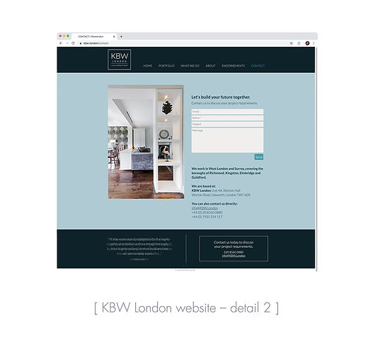 KBW London website contact page