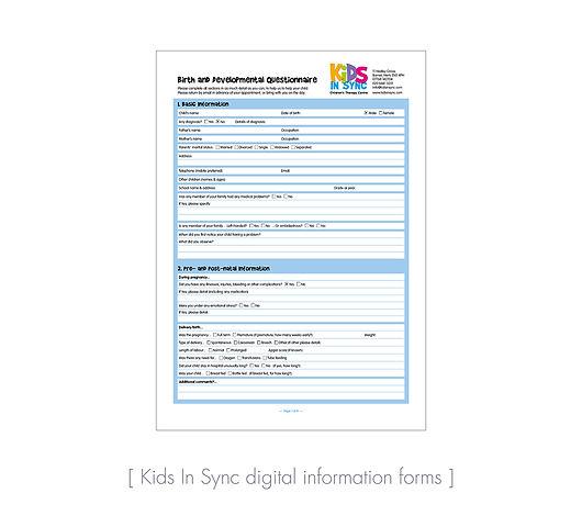 Kids In Sync digital form
