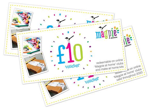 Magpie gift vouchers - £10