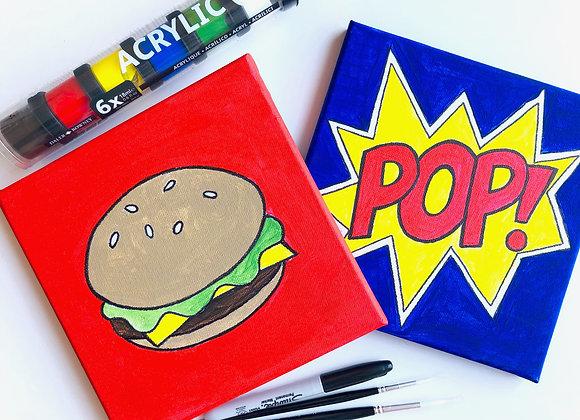 Pop Art acrylic canvas painting kit
