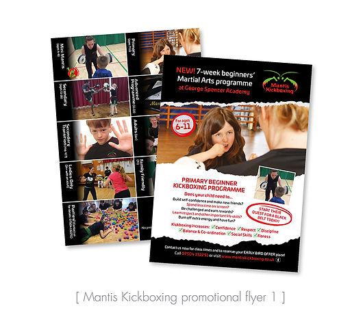 Kickboxing class leaflet