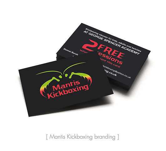 Mantis logo on business cards