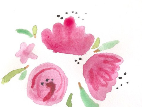 Paint a Spring watercolour for an elderly relative, friend or neighbour